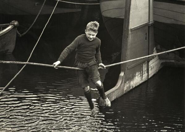 Boy on rope