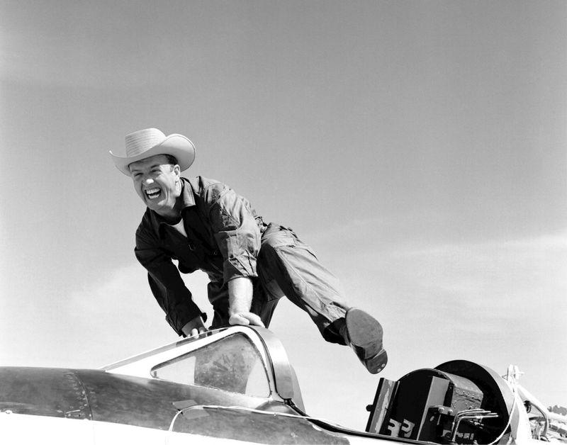 Cowboy in plane
