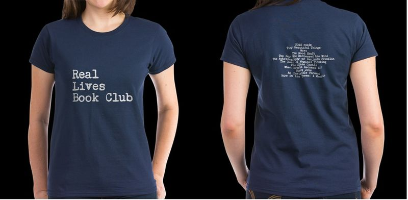 REAL LIVES BOOK CLUB T SHIRT
